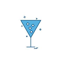 Glass icon design vector
