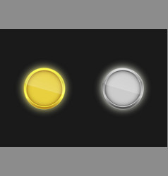 golden and silver badges vector image