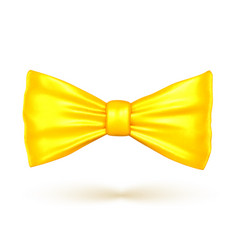 golden color bow vector image