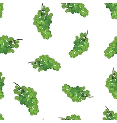 Green grape seamless pattern background Grape wine vector