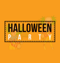 halloween sale banner style collection vector image