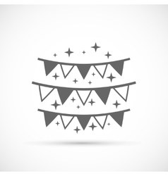 Hanging flags icon vector