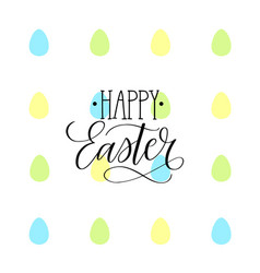 Happy easter egg childish holiday design vector