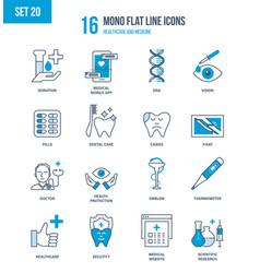healthcare medicine advanced education research vector image