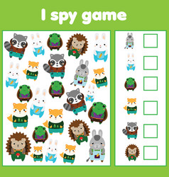 i spy game for toddlers find and count objects vector image