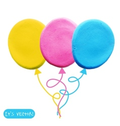 Icon of plasticine balloon vector image
