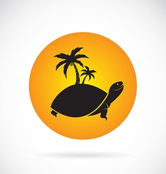 Image of an palms tree and turtles vector