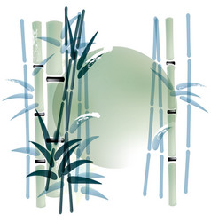 Ink or watercolor painted bamboo background vector