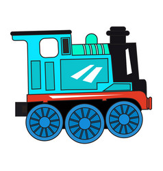 isolated train toy vector image