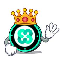 King ethos coin mascot cartoon vector