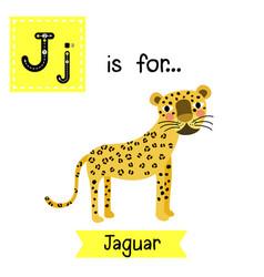 Letter j tracing jaguar vector
