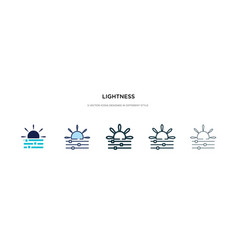 Lightness icon in different style two colored vector