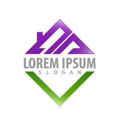 logo concept design square rosymbol graphic vector image