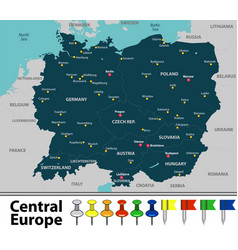Map of central europe vector