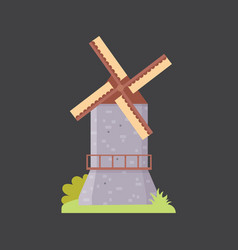 Medieval mill old architecture historical building vector