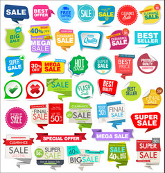 modern sale stickers tags banners and badges vector image