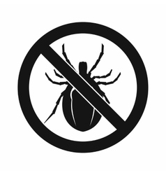 No bug sign icon simple style vector