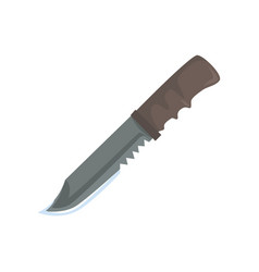 nonfolding military knife cartoon vector image