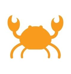 Ocean animal silhouette design of cute cartoon vector image