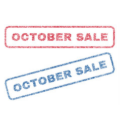 October sale textile stamps vector