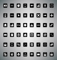 Pack of universal icons for web or applications vector image