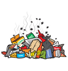 pile of garbage vector image