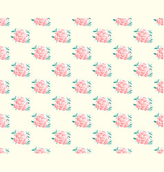 pink rose seamless on beige ivory background vector image