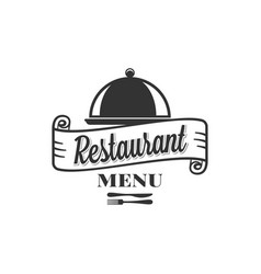 restaurant menu design with fork and knife vector image