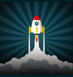 rocket launch business startup project symbol vector image