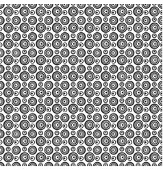 seamless ircles pattern black color vector image