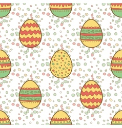 Seamless pattern with Easter painted eggs vector image