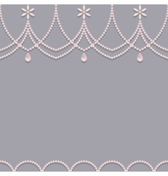 Seamless pearl ornament background vector