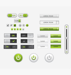 Set of flat design ui and ux elements for website vector