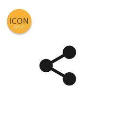 share icon isolated flat style vector image