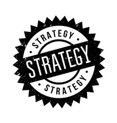 Strategy rubber stamp vector