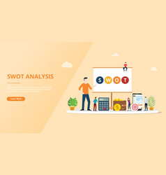 swot analysis business concept for website vector image