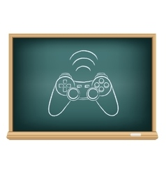 The blackboard gamepad vector image