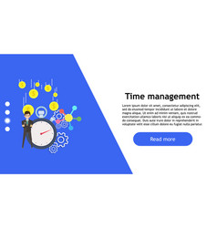 time clock concept business person isolated vector image