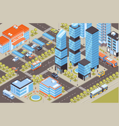 transport isometric vector image