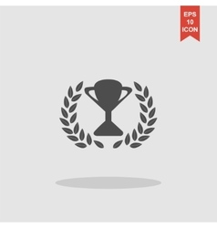 Trophy and awards icon Flat design style vector image
