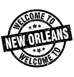 Welcome to new orleans black stamp vector