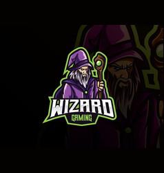 Wizard mascot sport logo design vector