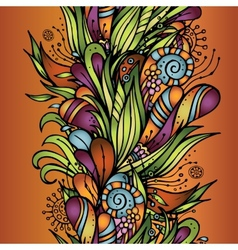 Abstract decorative nature seamless pattern vector image vector image