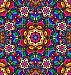 bright circular seamless kaleidoscope pattern vector image vector image