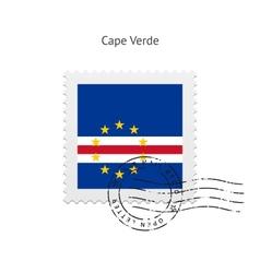 Cape verde flag postage stamp vector