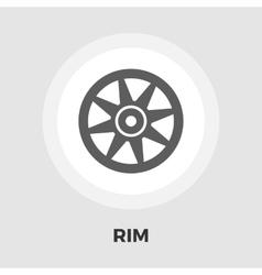 Car rim flat icon vector image vector image