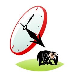 Cruel time vector image vector image