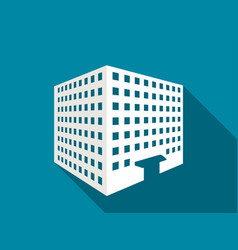 multi-storey building with a long shadow flat vector image vector image