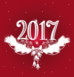 New Year headline with lace design vector image