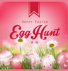 beautiful easter red background vector image